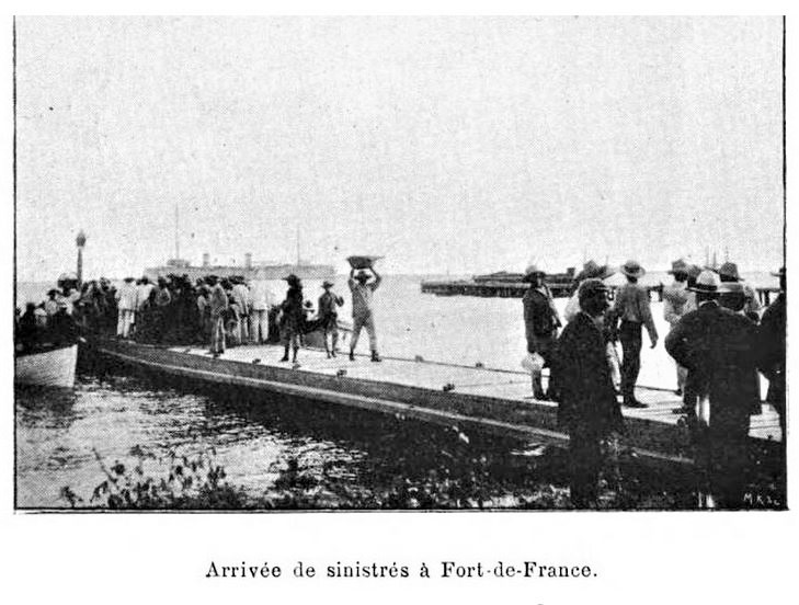 1902 photo of victims removed from Mount Pelee Martinique explosion