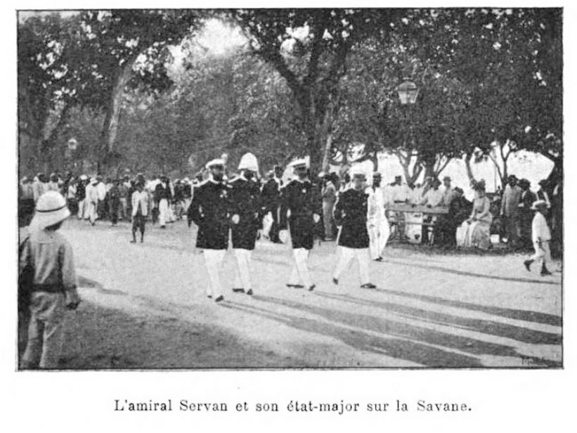 1903 photo of French Admiral Servan in Martinique