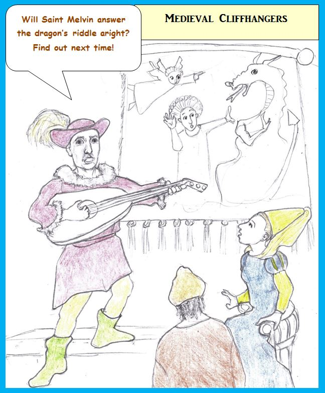 Cartoon of medieval troubadour