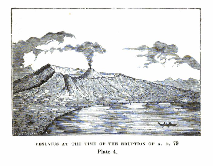 Illustration of Vesuvius in AD 79