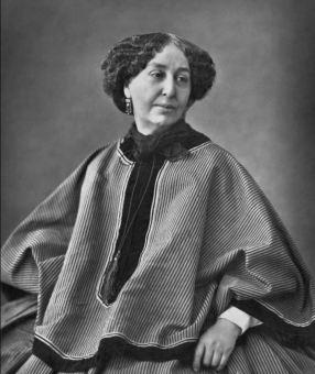 Photograph of author George Sand, 1864, public domain