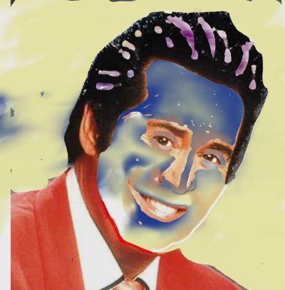 Digitalized photo-painting of Wayne Newton