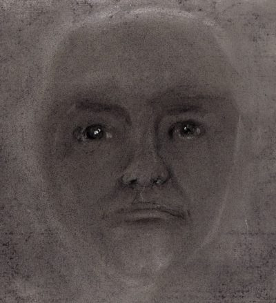 Pastel drawing of face
