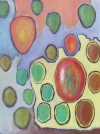 Oil painting of oval shapes