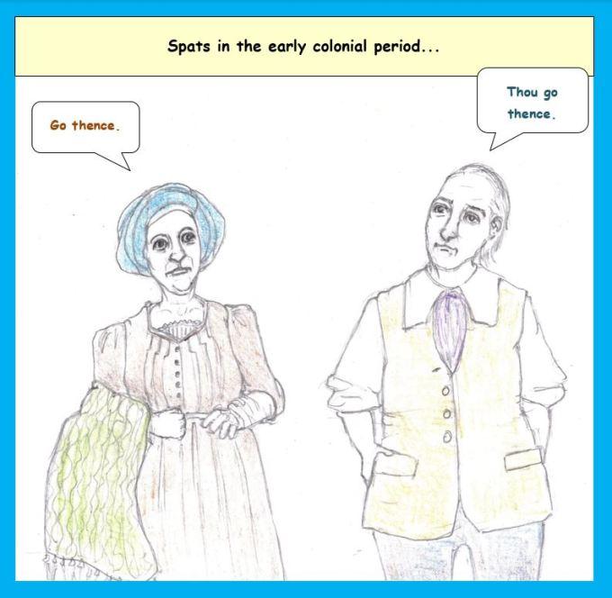 Cartoon of bickering puritans