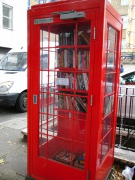 A library in a telephone box