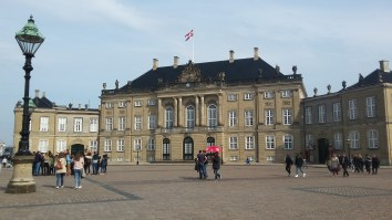 Amalienborg Palace - the Queen lives there
