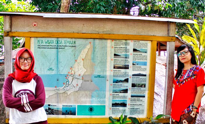 peta wisata tersembunyi temajuk
