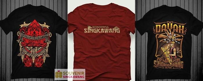 kaos souvenir singkawang