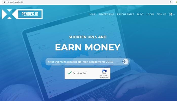 cara perpendek URL untuk menghasilkan uang