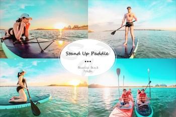 澎湖 | 山水沙灘 SUP立槳體驗水上活動.夕陽SUP