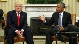 Foto: Reuters Trump tampaknya berpikir keras....mungkin tentang perseteruan sengit mengenai akta kelahiran Obama di tahun 2011 lalu