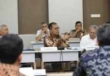Wali Kota Makassar, Danny Pomanto saat berbicara pada FGD Lemhanas di Gedung Astragatra Lemhanas, Selasa, (6/6/2017).