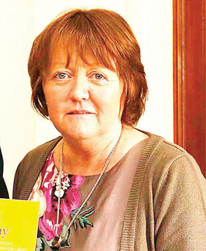 Culdaff road safety campaigner Susan Gray, of PARC.