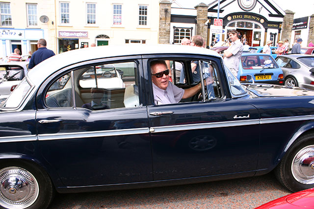 Phonsee Mc Cole pictured in his Humber hawk 1962  820 Tyc  model at the Vintage Cra Run in Moville.