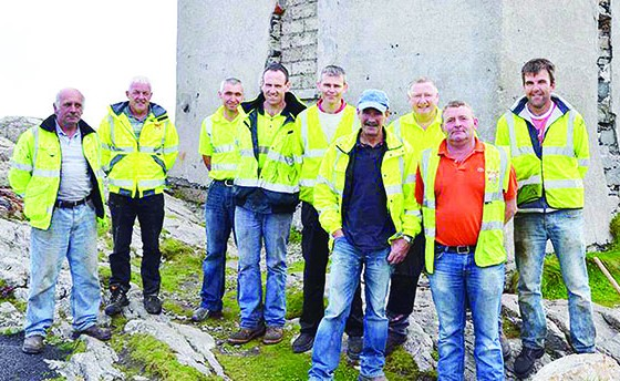 Council workers in Malin Head