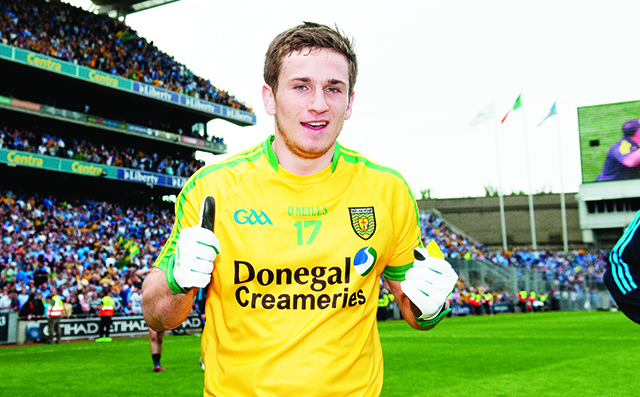 Darach O'Connor celebrating after Sunday's game. Photo Evan Logan