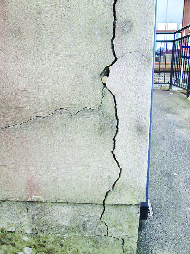 Visible cracks on a house in Donegal - picture from Mica Action Group