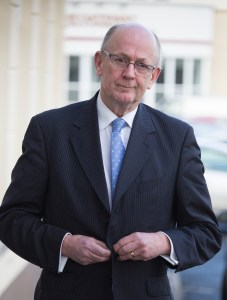Coroner Dr John Madden arriving at the inquest in Buncrana.  (North West Newspix)