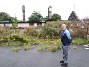 Chairman of the board Anthony Doogan hopes the burnt-out shell of St. Jospeh's will be transformed into the new home of Gaelscoil Cois Feabhail by next September.
