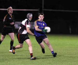 Muff's Aidan McLaughlin in action in the semi final victory over Red Hugh's.
