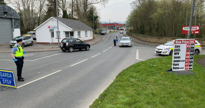 Garda checkpoints are ongoing, particularly at border crossings like Muff (pictured) and Bridgend