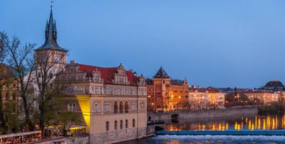 Prague à l'heure bleue