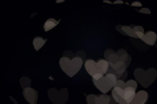 Exemple 2 de prise de vue de bokeh en forme de cœur.