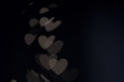 Exemple 4 de prise de vue de bokeh en forme de cœur.