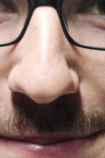 Mise en évidence de l'ombre portée du nez dans un portrait