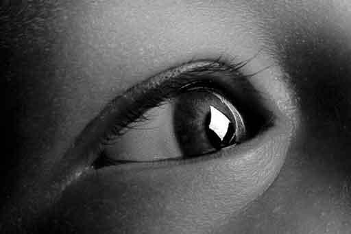 Illustration du reflet des éclairage dans le catchlight des yeux