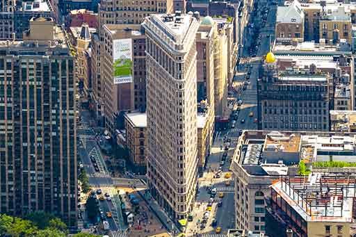 Illustration des ombres portées des bâtiments d'une ville