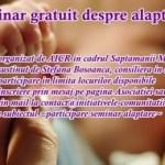 Pregătim un seminar despre alăptare la cea de-a șasea șuetă a mamelor moineștence