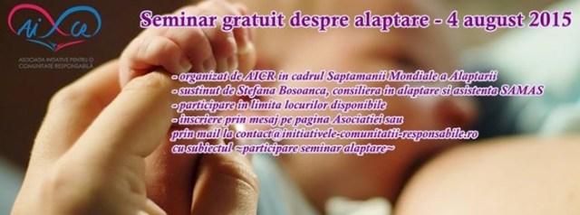 afis sueta mamelor seminar saptamana mondiala alaptarii eveniment aicr moinesti