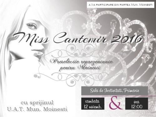 Preselecţia pentru alegerea reprezentantelor Mun. Moinești la concursul de Miss Cantemir 2016