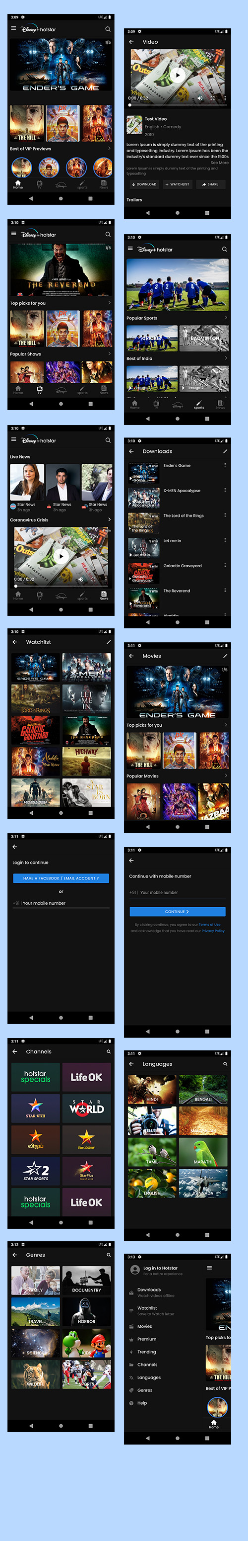 ionic 5 template bundle  / ionic 5 themes bundles / ionic 5 templates with 10+ apps - 6