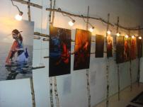 Ett foto från veckan då utställningen hängde