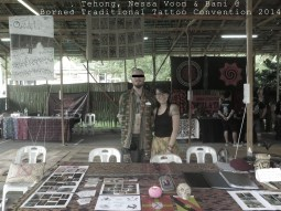 traditional tattoo convention. kuching. sarawak borneo