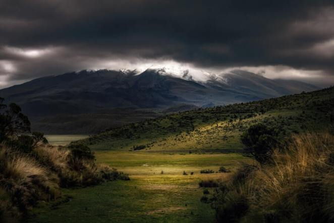 Green Valley with Dark Clouds Ahead