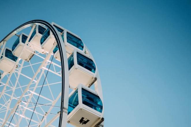 Ferris Wheel under Blue Skies