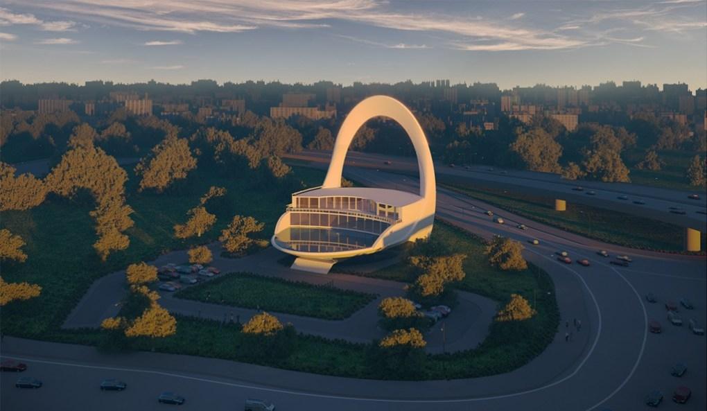 مسجد ٱلْفُلْكِ تصميم معماري جذاب مبتكر