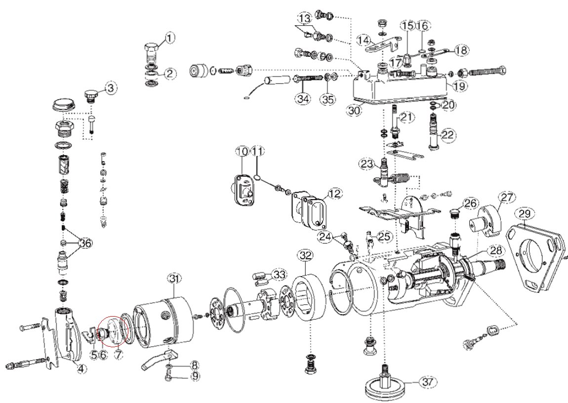 Vane Pump Schematic
