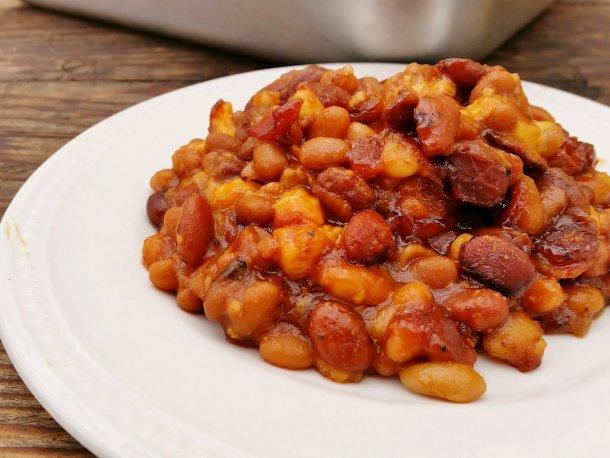 Cheesy Bacon Baked Beans