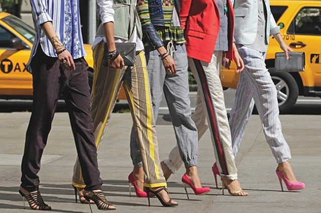 брюки штаны мода лампасы