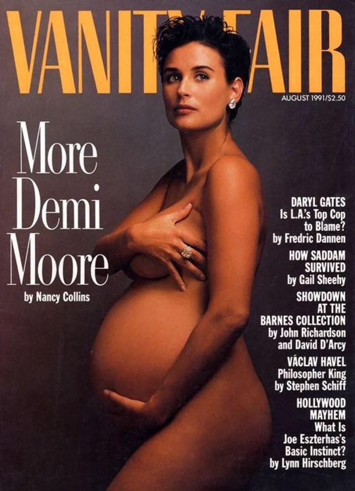 Деми Мур. Обложка журнала Vanity Fair