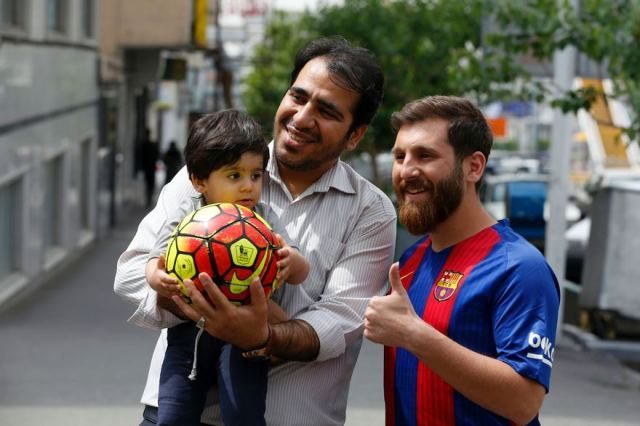IRAN-FOOTBALL-MESSI
