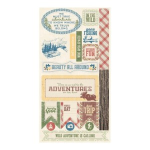Adventure Cardstock Die-Cuts 6″X12″ – Components Icons, Quotes, Tags & Plaques