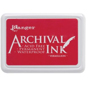 Archival Ink Pad No.0 – Vermillion
