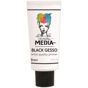 Dina Wakely Media Gesso 2oz Tube – Black