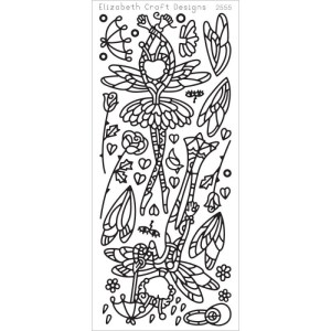 Dragonfly Ladies 1 Peel-Off Stickers – Black